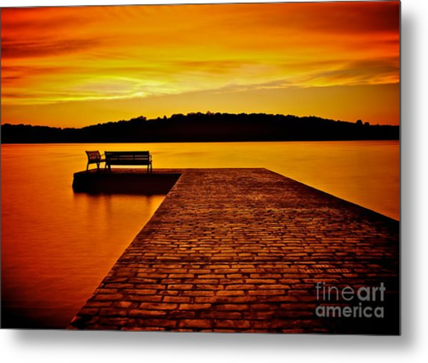 Vacant Sunset Metal Print