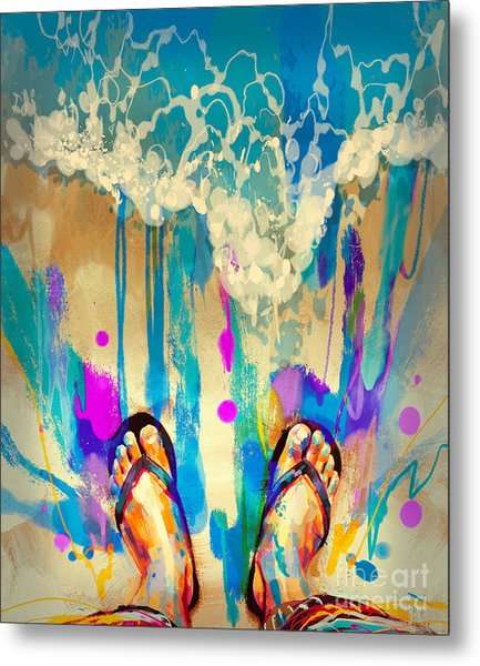 Vacation Time Metal Print