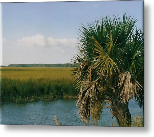 Vacation View Metal Print