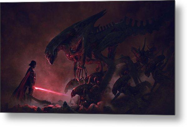Vader Vs Aliens 4 Metal Print