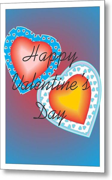Valentine Lace Metal Print