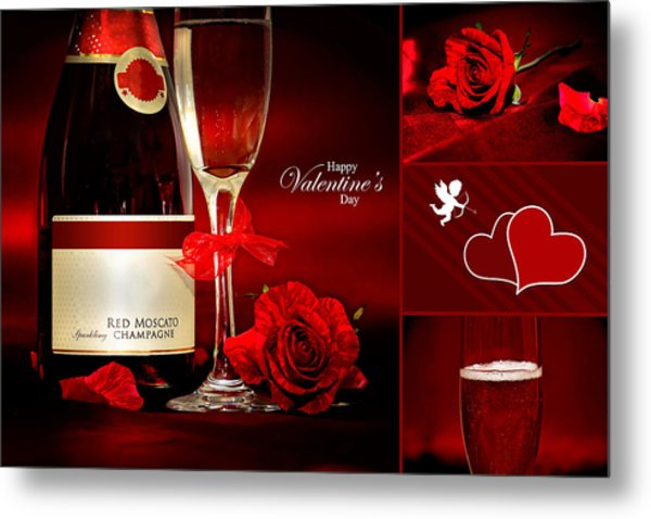 Valentine's Collage Photo Metal Print