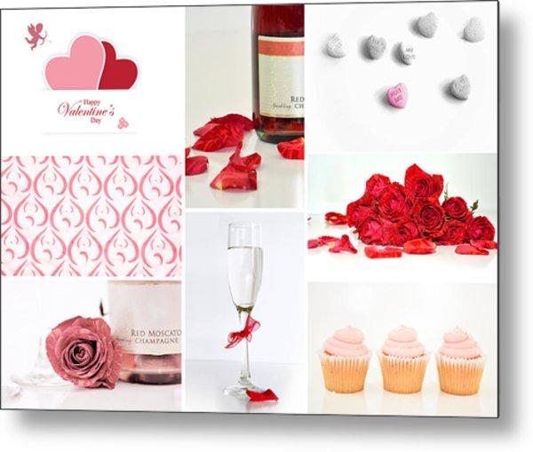 Valentine's Collage Metal Print