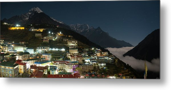 Metal Print featuring the photograph Valley Clouds In Namche Bazaar by Owen Weber