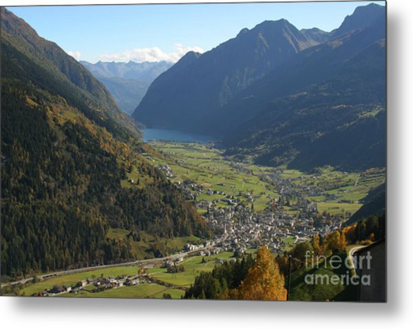 Valley In The Alps Metal Print by Stan and Anne Foster