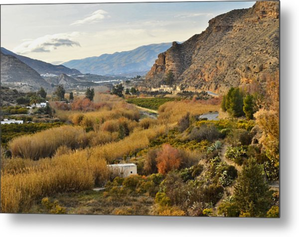 Valley Of Andalusia Metal Print