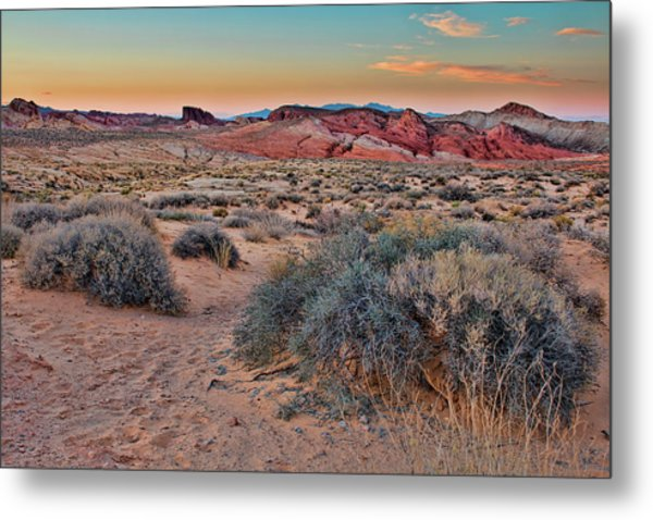 Valley Of Fire Sunset Metal Print
