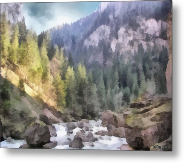 Valley Of Light And Shadow Metal Print