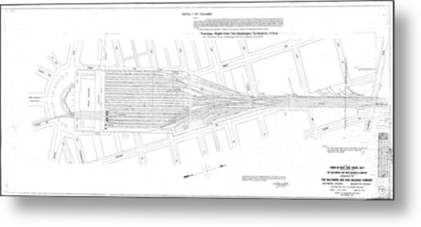 Valuation Map Washington Union Station Metal Print