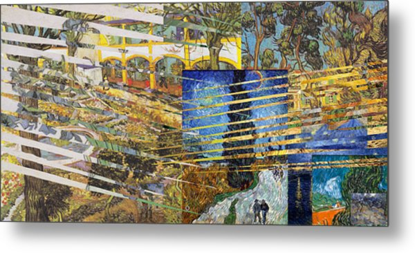 Van Gogh Mural Il Metal Print