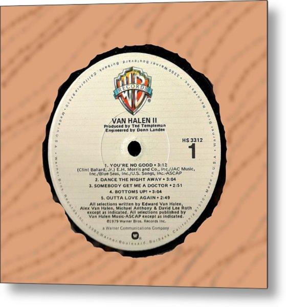 Van Halen II Lp Label Metal Print