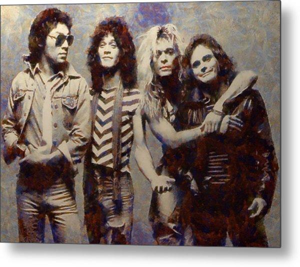 Van Halens Classic Early Lineup Metal Print