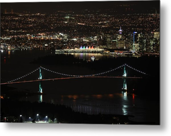 Vancouver At Night Metal Print