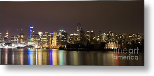 Vancouver By Night Metal Print