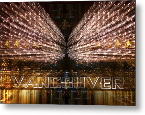 Vancouver Lightshow Metal Print
