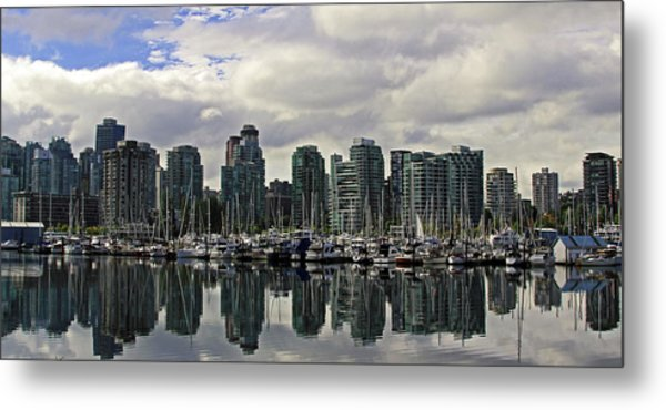 Vancouver Marina Metal Print by Walter Fahmy