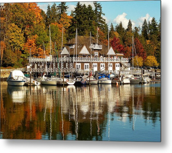 Vancouver Rowing Club In Autumn Metal Print
