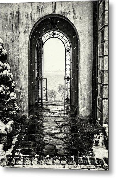 Vanderbilt Doorway In Centerport Metal Print