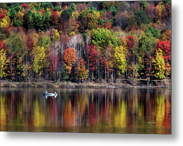 Vanishing Autumn Reflection Landscape Metal Print