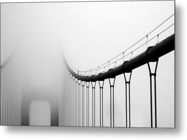Vanishing Bridge Metal Print