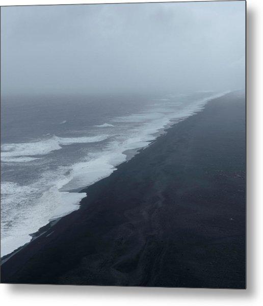 Vanishing Point - Dyrholaey, Iceland Metal Print