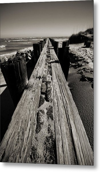 Vanishing Point Folly Beach Metal Print