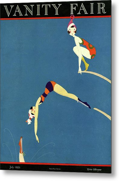 Vanity Fair July 1921 Cover Metal Print by A H Fish