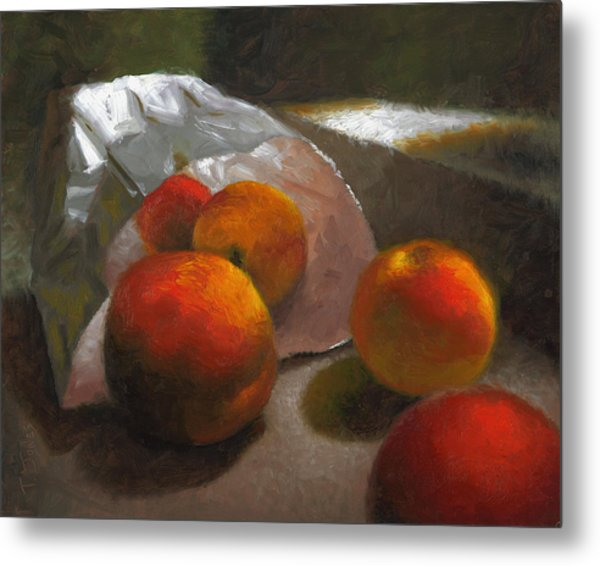 Vanzant Peaches Metal Print by Timothy Jones