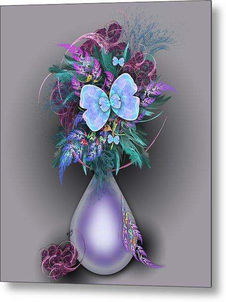 Vase Of Fractals Metal Print