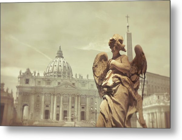 Vatican Angel Metal Print by JAMART Photography