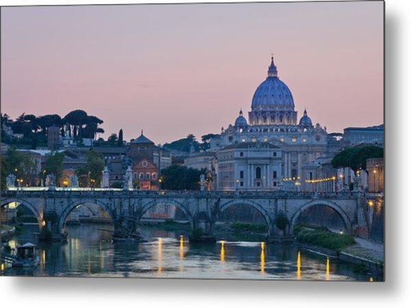 Vatican City At Sunset Metal Print
