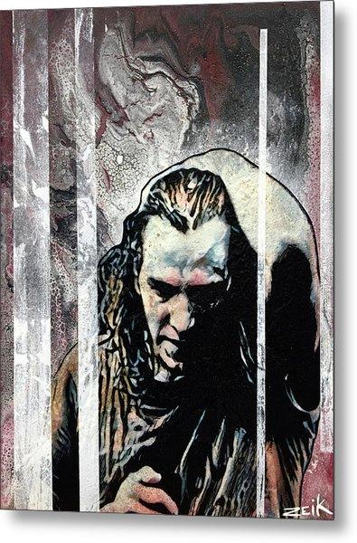 Vedder - Black Metal Print by Bobby Zeik