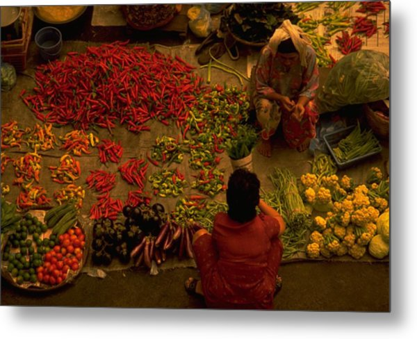 Vegetable Market In Malaysia Metal Print