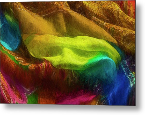 Metal Print featuring the photograph Veiled Mask by Paul Wear