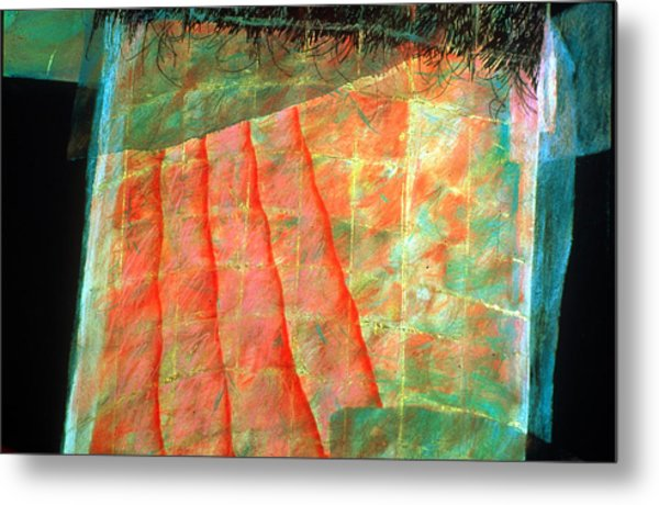 Veiled Mystery Column Metal Print by Sue Reed