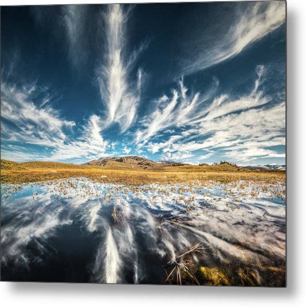 Veins Of Earth And Sky // Yellowstone National Park  Metal Print