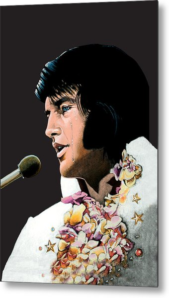 Velvet Elvis Metal Print