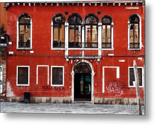 Venetian Architecture Metal Print by John Rizzuto