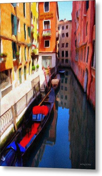 Venetian Canal Metal Print