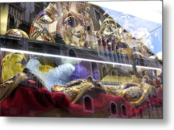 Venetian Carnival Reflections Metal Print