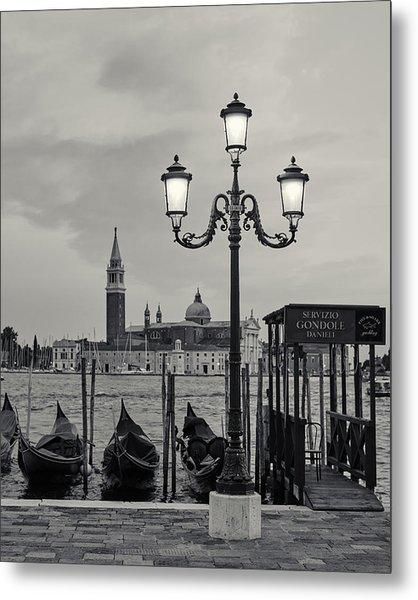 Venetian Streetlamp Metal Print