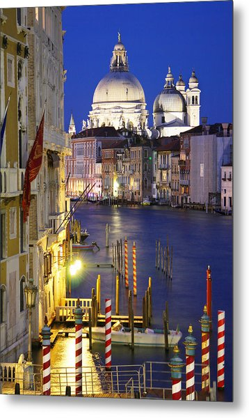 Venice At Night Metal Print by Dan Breckwoldt