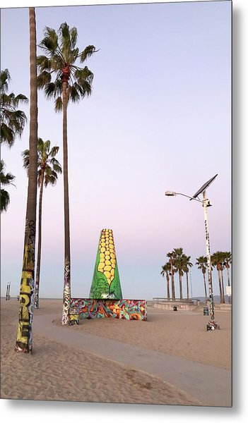 Venice Beach Corn Cob Art Metal Print