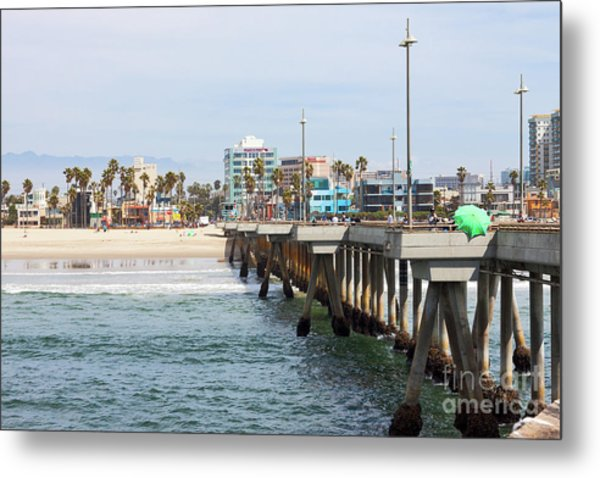 Venice Beach From The Pier Metal Print
