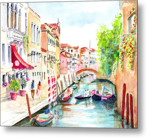 Venice Canal Boscolo Venezia Metal Print