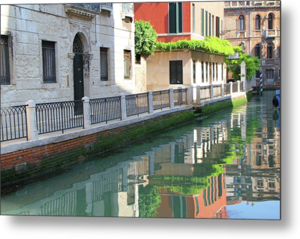 Venice Canal Reflection 3 Metal Print
