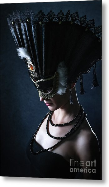 Metal Print featuring the photograph Venice Carnival Mask by Dimitar Hristov