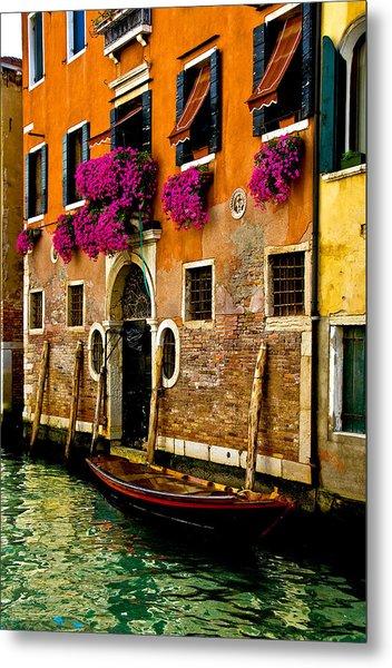 Venice Facade Metal Print