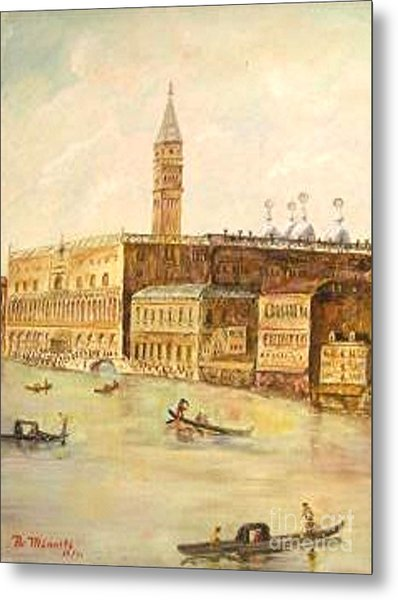 Venice From Grand Canal Metal Print by Nicholas Minniti