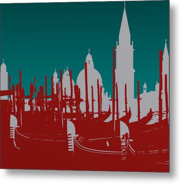 Metal Print featuring the digital art Venice Italy by Alberto  RuiZ